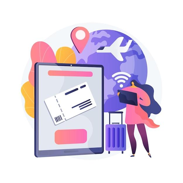 Ilustração do conceito abstrato para comprar ingressos online Vetor grátis