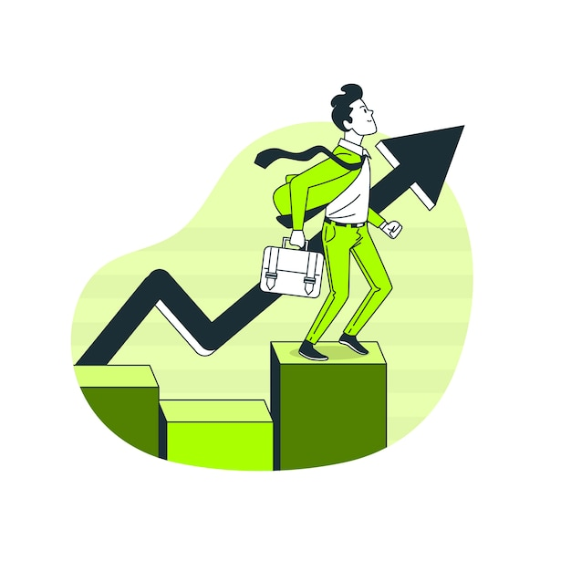 Ilustração do conceito crescente Vetor grátis