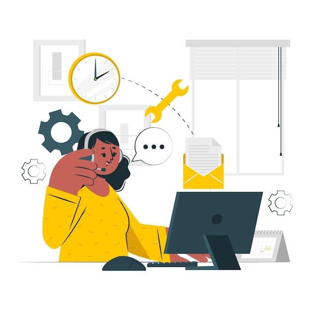 Ilustração do conceito de administrador Vetor grátis