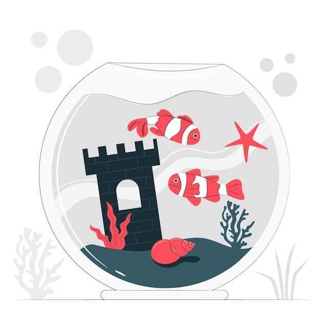 Ilustração do conceito de aquário Vetor grátis
