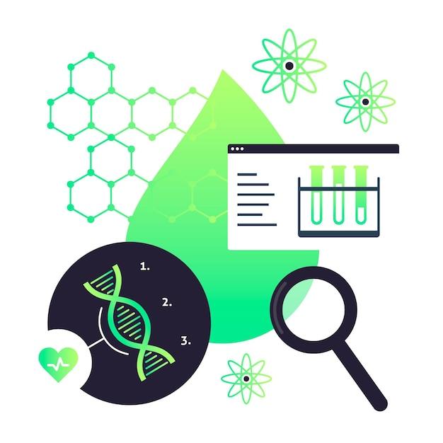 Ilustração do conceito de biotecnologia Vetor grátis