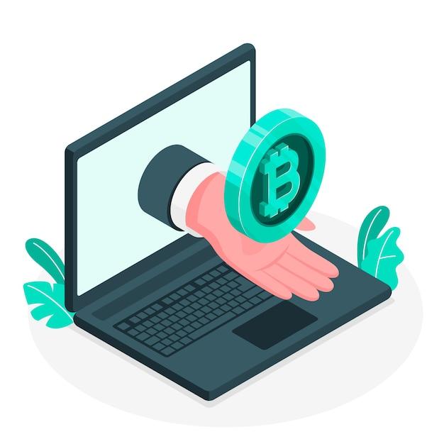 Ilustração do conceito de bitcoin Vetor grátis