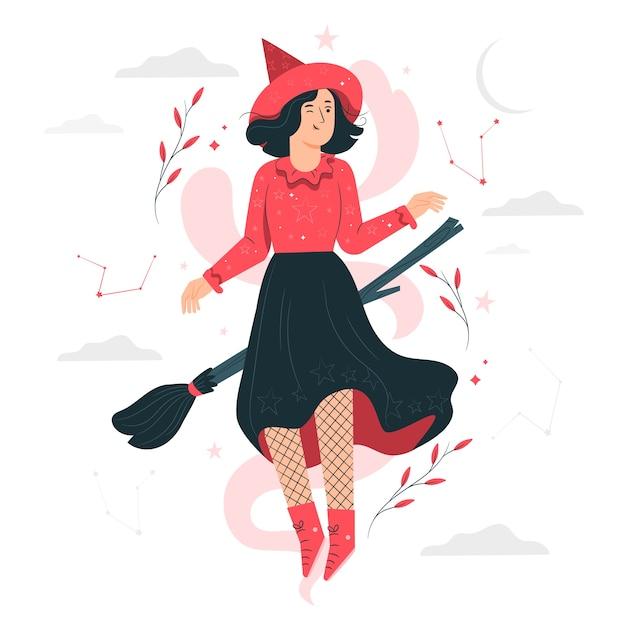 Ilustração do conceito de bruxa Vetor grátis