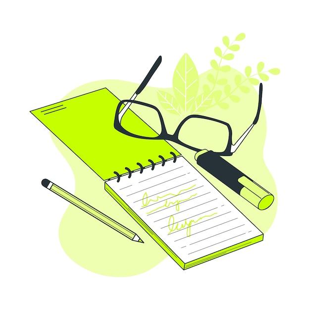 Ilustração do conceito de caderno Vetor grátis