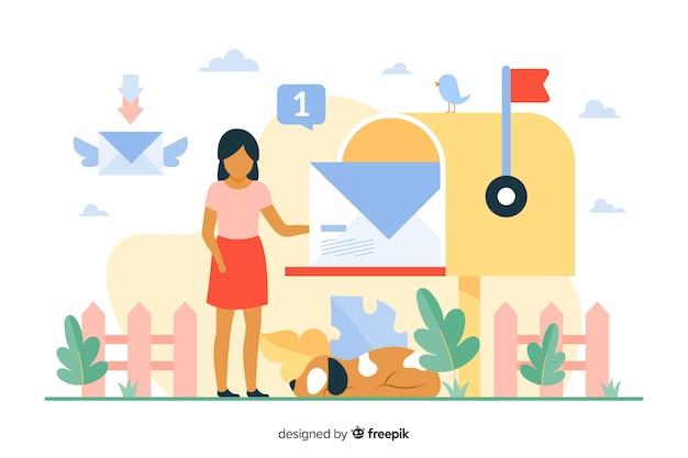 Ilustração do conceito de caixa de correio Vetor grátis