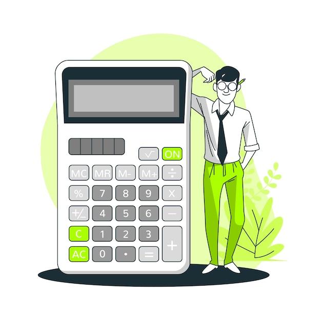 Ilustração do conceito de calculadora Vetor grátis