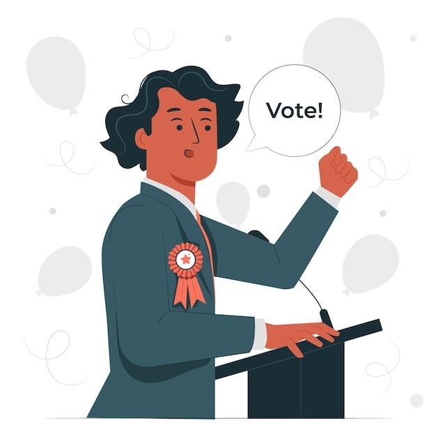 Ilustração do conceito de candidato político Vetor grátis