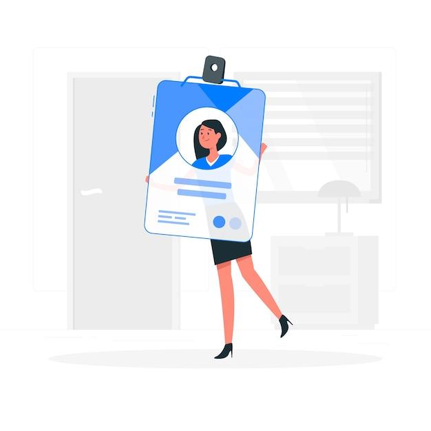Ilustração do conceito de cartão de identificação Vetor grátis