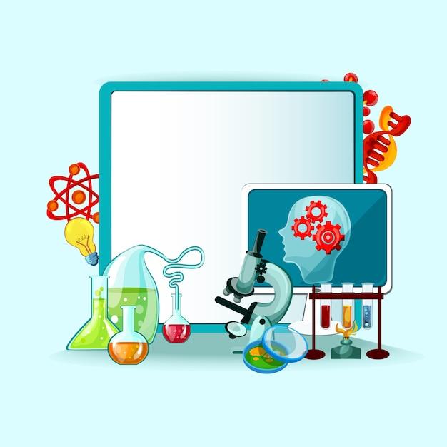 Ilustração do conceito de ciência Vetor grátis