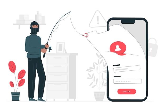 Ilustração do conceito de conta de phishing Vetor grátis