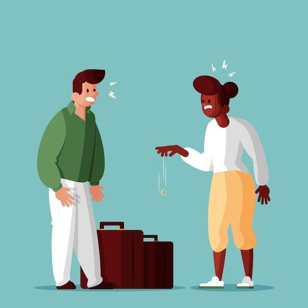 Ilustração do conceito de divórcio Vetor grátis