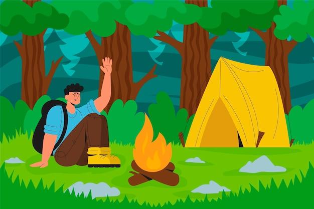 Ilustração do conceito de ecoturismo Vetor grátis
