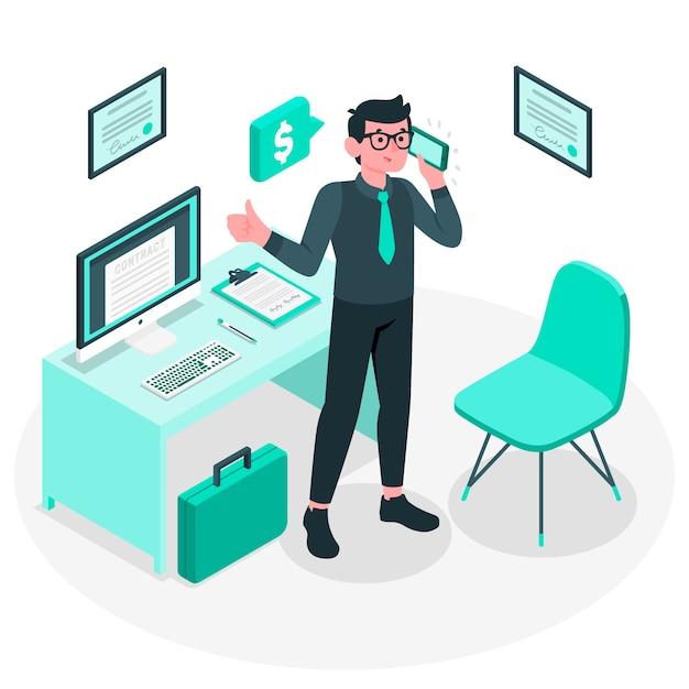 Ilustração do conceito de empresário Vetor grátis