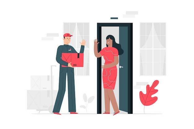 Ilustração do conceito de entrega Vetor grátis