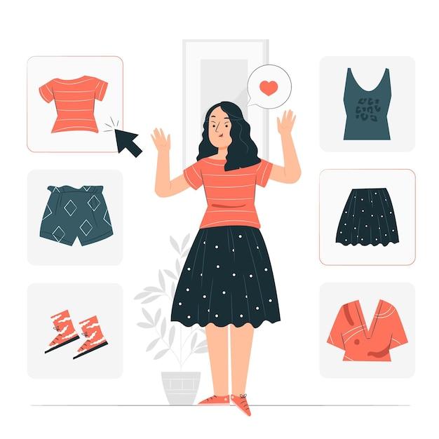 Ilustração do conceito de escolha de roupas Vetor grátis