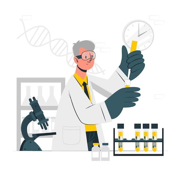Ilustração do conceito de exame de sangue Vetor grátis