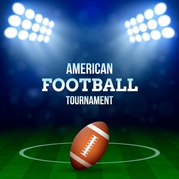 Ilustração do conceito de futebol americano Vetor grátis