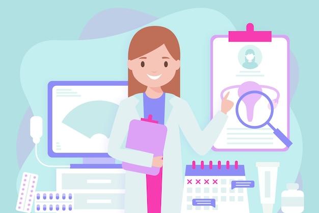 Ilustração do conceito de ginecologia Vetor Premium