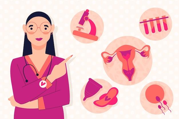Ilustração do conceito de ginecologia Vetor grátis