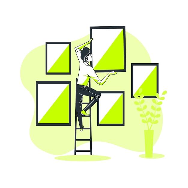 Ilustração do conceito de imagem Vetor grátis