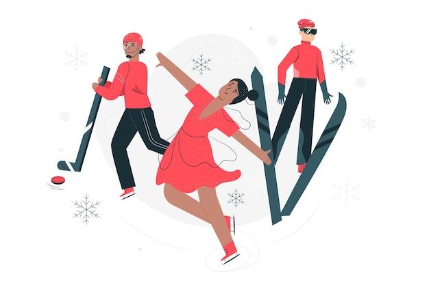 Ilustração do conceito de jogos olímpicos de inverno Vetor grátis