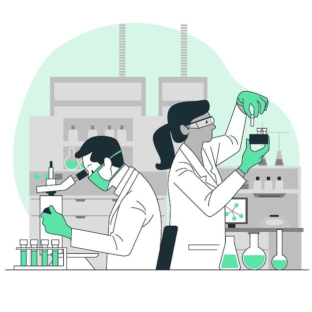 Ilustração do conceito de laboratório Vetor grátis