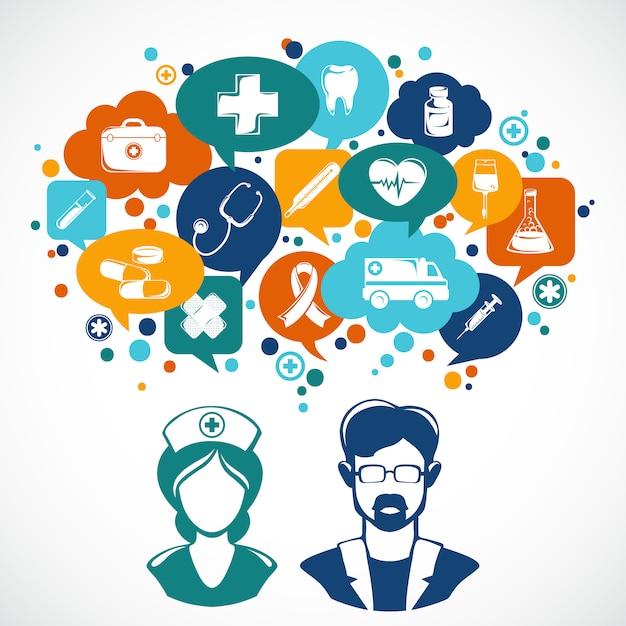 Ilustração do conceito de medicina Vetor Premium
