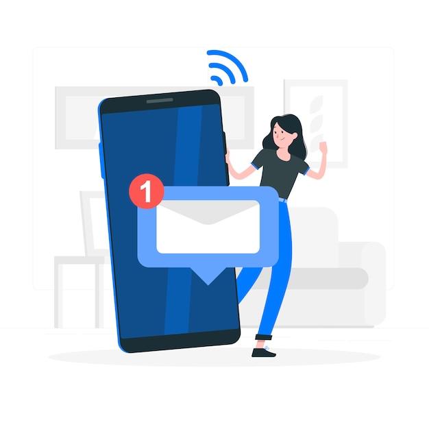 Ilustração do conceito de mensagens Vetor grátis