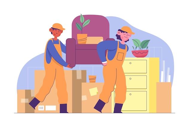 Ilustração do conceito de mudança de casa Vetor grátis
