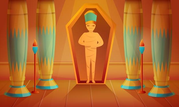 Ilustração do conceito de múmia, estilo cartoon Vetor Premium