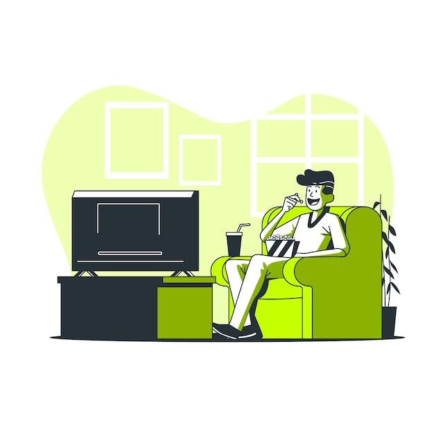 Ilustração do conceito de noite de cinema Vetor grátis