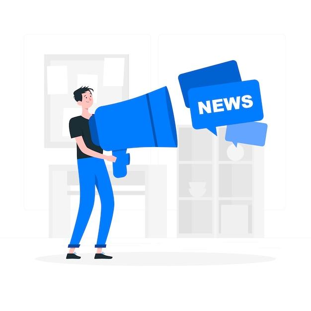 Ilustração do conceito de notícias Vetor grátis