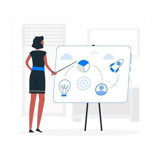 Ilustração do conceito de plano de negócios Vetor grátis