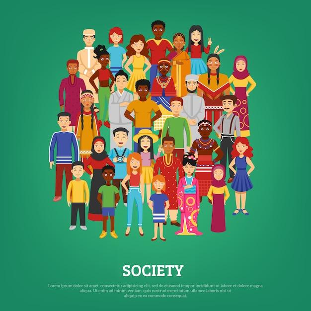 Ilustração do conceito de sociedade Vetor grátis