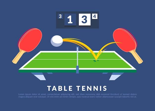 Ilustração do conceito de tênis de mesa Vetor grátis