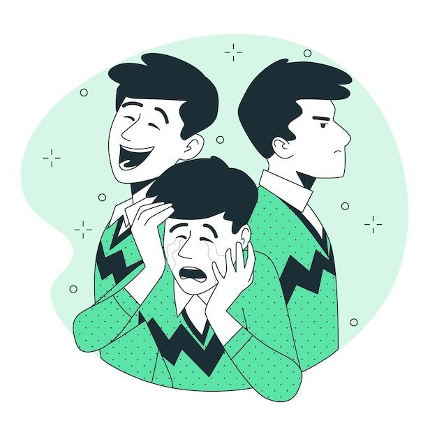 Ilustração do conceito de transtorno de personalidade Vetor grátis