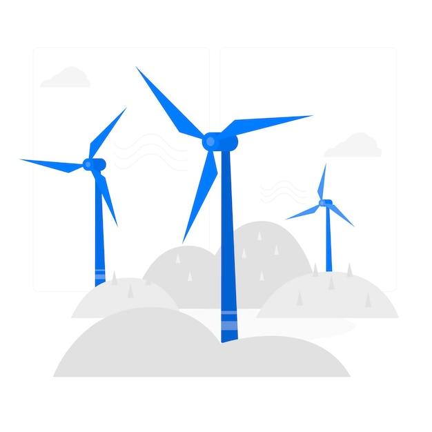 Ilustração do conceito de turbina eólica Vetor grátis