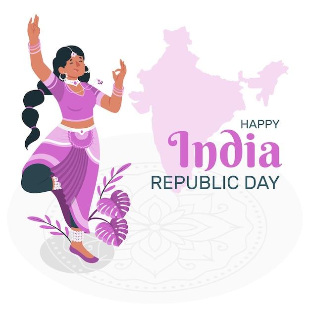 Ilustração do conceito do dia da república da índia Vetor grátis