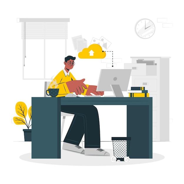 Ilustração do conceito no trabalho Vetor grátis