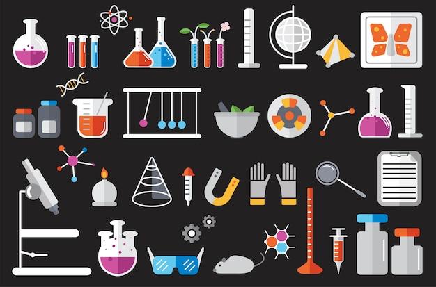 Ilustração do conjunto de instrumentos de laboratório de química Vetor grátis