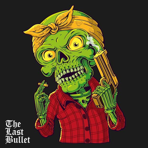 Ilustração do crânio gangsta Vetor Premium