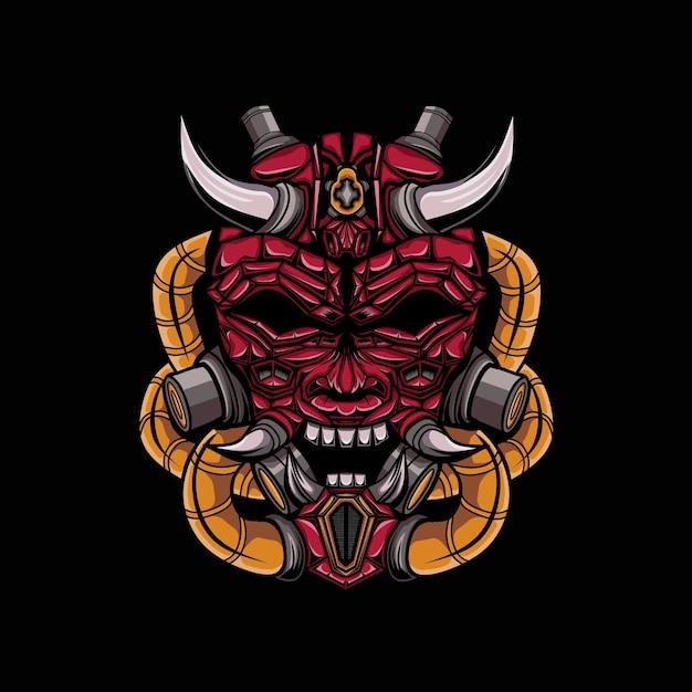 Ilustração do demônio com chifres Vetor Premium