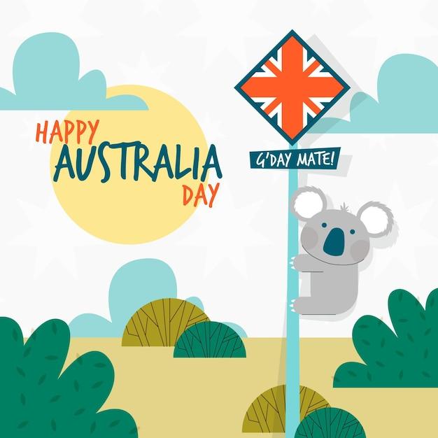 Ilustração do dia da austrália plana Vetor grátis