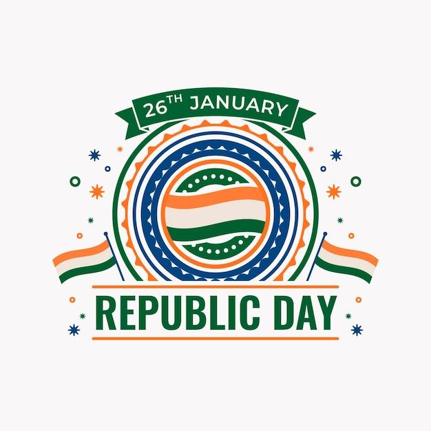 Ilustração do dia da república plana Vetor grátis
