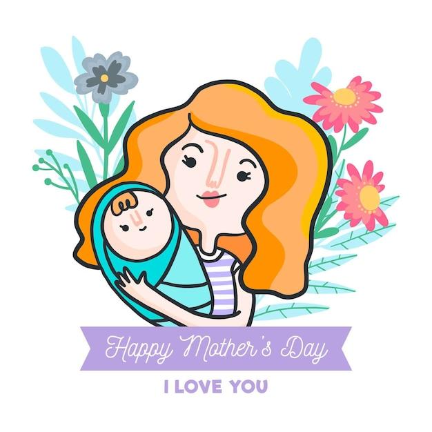Ilustração do dia das mães Vetor grátis