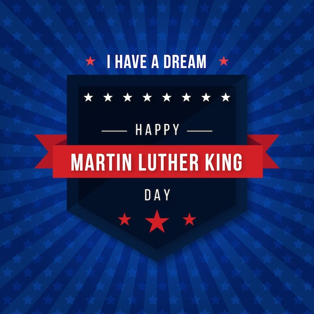 Ilustração do dia de martin luther king Vetor grátis