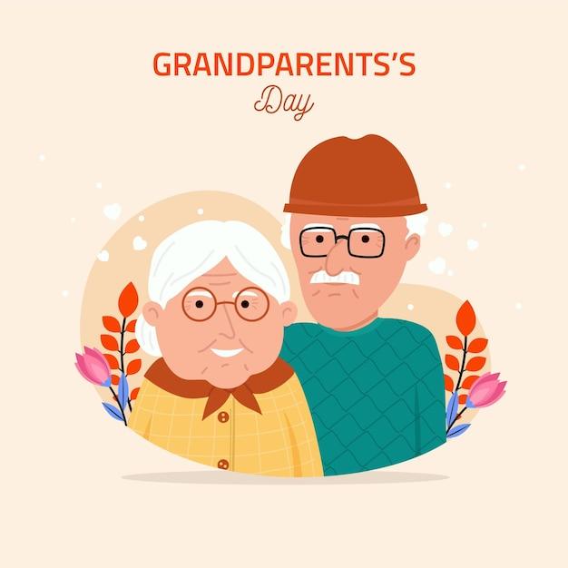 Ilustração do dia dos avós nacionais Vetor grátis