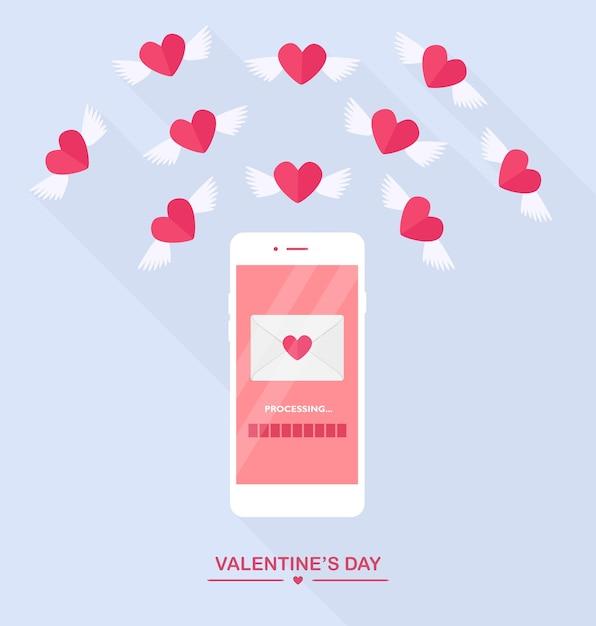 Ilustração do dia dos namorados. Vetor Premium
