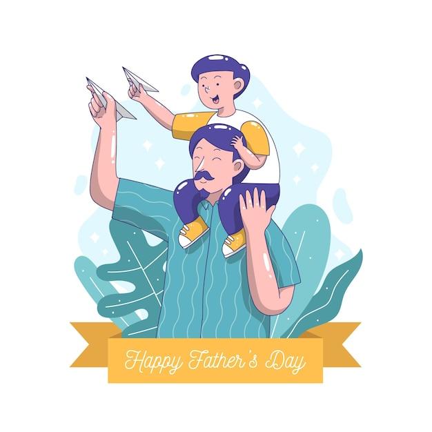 Ilustração do dia dos pais desenhada Vetor grátis