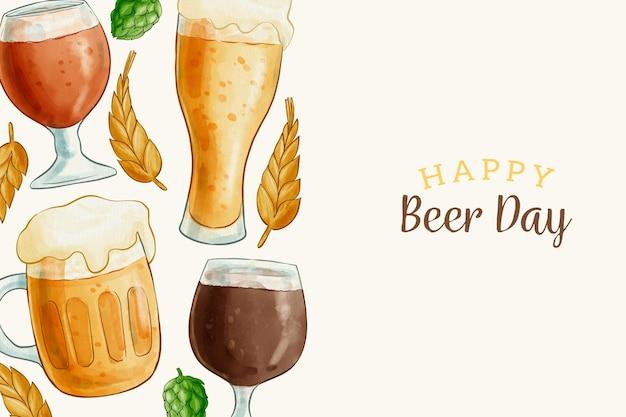 Ilustração do dia internacional da cerveja Vetor grátis